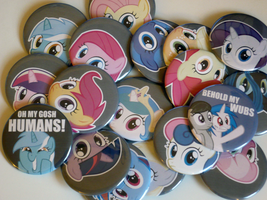 Poni Pins Penetrating Gaze Edition by sparklepeep