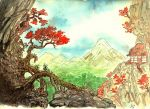 Japan background by Jalipuchi
