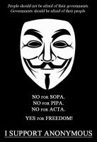 Keep calm and support Anonymous by illegalpoet