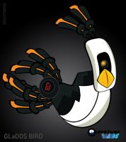 GLaDOS - Aperture Birds by lia-a-eastwood