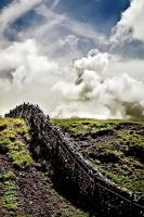 Kirkcudbright Road: wall+sky2 by Coigach