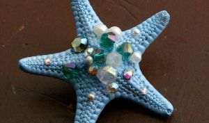 Ocean Starfish Hair Clip by TheRealLittleMermaid