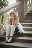 Cafe au lait on stairs by Giuly-Chan