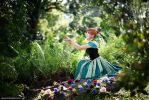 Frozen - Anna in the garden by vaxzone
