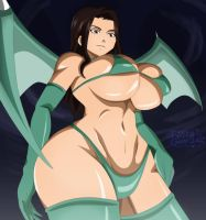 Fairy tail sexy cana succubus. by greengiant2012