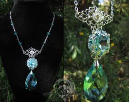 Celestial Droplet Necklace by Lillyxandra