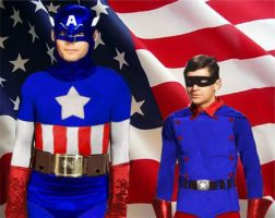 Adam West as Captain America by infinitegreen28