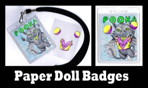 Pooka Paper Doll Badge by MischievousPooka