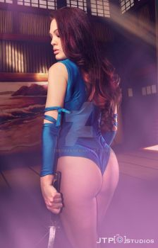 Psylocke with Jessica Grey  Ap bikini team by TREXMAN