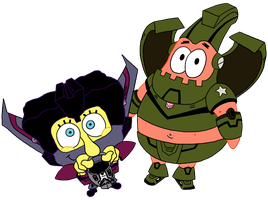 Spongescream and Pathead by icfiye