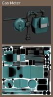 3ds Max: Prop Sheet - Gas Meter by ChocoGhost