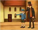 Professor Layton by amberriess