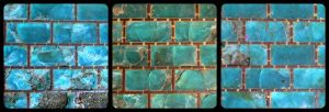 blue glass pavement by Kitchenbox