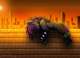 Rooftop Sunrise by Luna-Wolf-28
