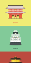Japan Landmarks by zuyetawarmatik