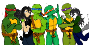 dogs297, the TMNT, and Me by SeraphimWolf49