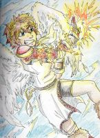 Kid Icarus - Using the Burning Palm by Hukkis