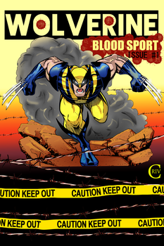 Wolverine coloring (line art) by criv215