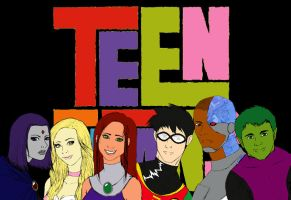 THE TEEN TITANS by hikari2kurai