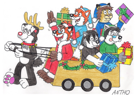 A belated Christmas drawing by AnthoFur