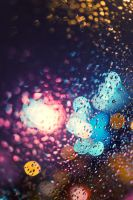 drops on the glass by liqui