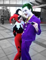 Joker and Harley Hit the Town by Groovy-Guy