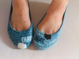 TFIOS hand painted quote shoes by arteclair