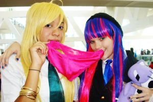 Two Angels, One Panty by Double-A-Cosplay