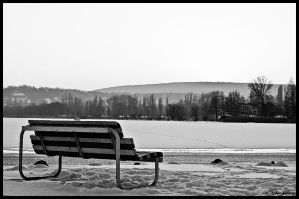 Lonely bench by mocsa