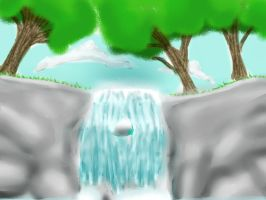 Waterfall-try by anime-halo