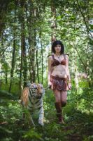 Amazon and tiger by Jane-Po