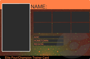 Elite 4/Champion Trainer Card by khfanT