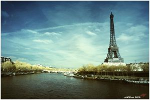 Eiffel and Seine River by neoxavier