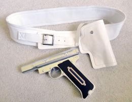 Finished Persona 3 Evoker Belt + Holster by LiJianliang