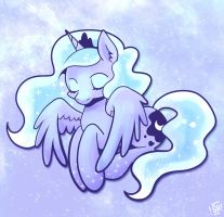 Sleepy Luna by SteveHoltisCool