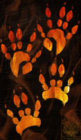 Pawprint Comish - Fire Bringer by TwilightSaint