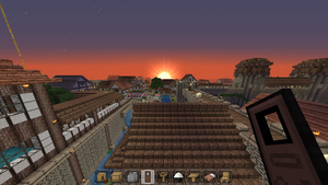 Minecraft Sunset by Lyra-Elante
