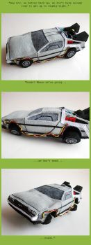 Plush DeLorean: UPGRADED by ldhenson