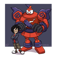 Big Hero 6: A Very Strange Coloured Golurk... by forte-girl7