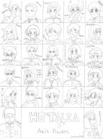 Hetalia Characters No Color by LightingUpTheStars