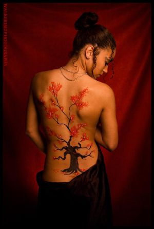 Women Back Piece Japanese Cherry Blossom Tattoos Picture 6