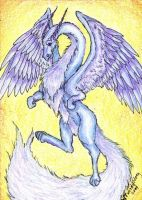 Imperial Sky Dragon ACEO by Almalphia