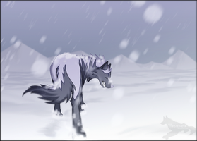 Wolf in the snow by Twister4eva
