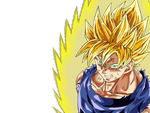 SSJ Goku Colored - Battle Damage by inzanity-arts