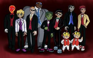 Teen Titans Prom - The Guys by SugarKandi