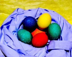 Cozy Colorful Eggs by systemcat