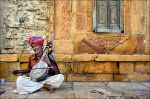The Sarangi Player by saptakganguly
