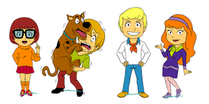 Scooby Doo Chibis by HitanTenshi