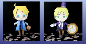 APH King and Queen of spades papercraft by DandelmiNia