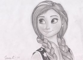 Anna in pencil by TheOmNom